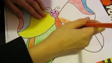 ASMR for Kids: Coloring a Butterfly with Colored Pencils (April 2017)