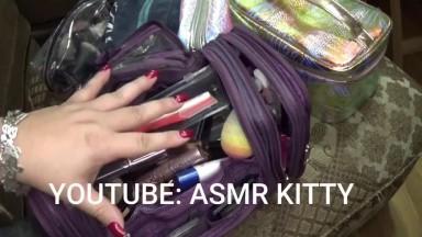 ASMR MAKEUP BAG ORGANIZING/ RAMBLE SNIPPET