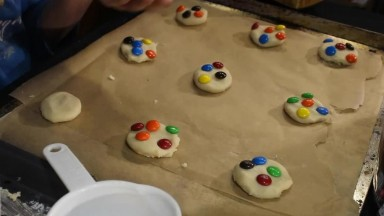 Baking Sugar Cookies w/ MnMs and Eating Them! (2019)